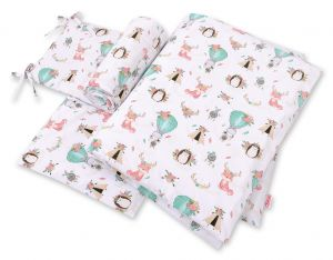 Bedding set 3-pcs - foxes beige