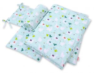 Bedding set 3-pcs - lama mint