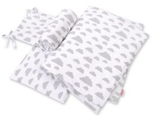 Bedding set 3-pcs - clouds gray
