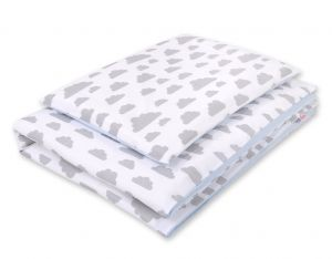 Double-sided bedding set 2-pcs- clouds gray/blue
