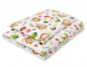 Bedding set 2-pcs- sloths  beige