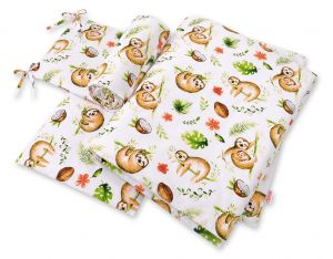 Bedding set 3-pcs - sloths  beige