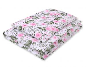 Bedding set 2-pcs- peony flower pink