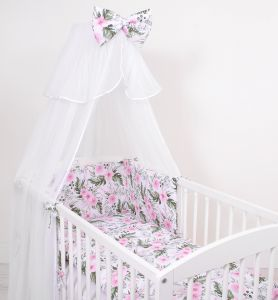 Mosquito-net made of chiffon- peony flower pink