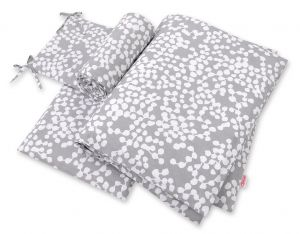 Bedding set 3-pcs - bubbles gray