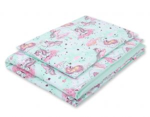 Bedding set 2-pcs- unicorn mint