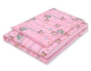 Bedding set 2-pcs- owls pink
