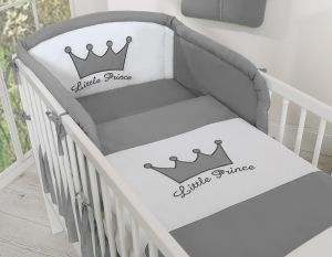 Bedding set 2-pcs- Little Prince/Princess anthracite