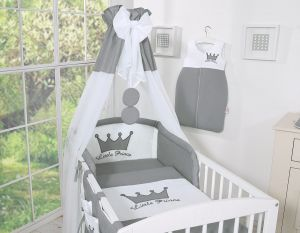 Canopy made of Chiffon- Little Prince/Princess anthracite