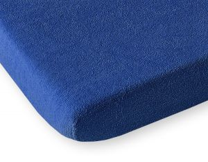 Sheet made of frotte (terry) 80x200cm-  dark blue