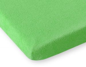 Sheet made of frotte (terry) 80x200cm- apple green