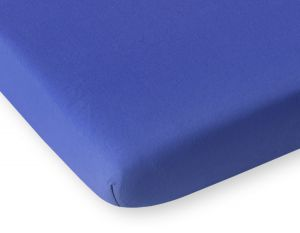 Sheet made of jersey - dark blue