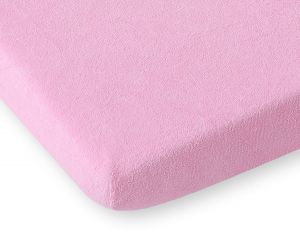 Sheet made of frotte (terry) 80x200cm- pink