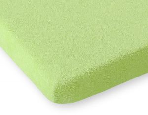Sheet made of frotte (terry) 140x200cm-- apple green