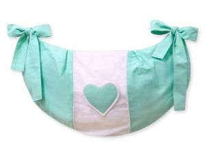Toys bag- Hanging Hearts mint