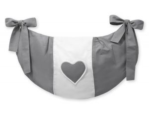 Toys bag- Hanging hearts anthracite