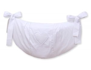 Toys bag- Hanging Hearts white