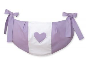 Toys bag- Hanging Hearts lilac