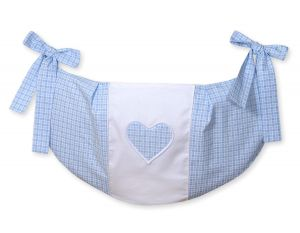 Toys bag- Hanging Hearts blue checkered