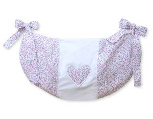 Toys bag- Hanging Hearts pink flowers
