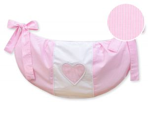Toys bag- Hanging Hearts pink strips