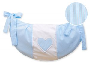 Toys bag- Hanging Hearts blue strips