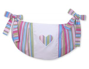 Toys bag- Hanging Hearts lilac strips