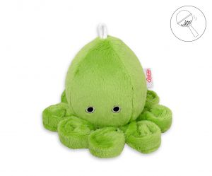 Cuddly octopus with rattle - green