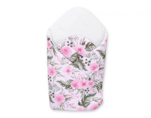 Baby nest with stiffening - peony flower pink/white