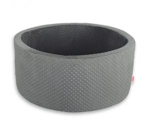 Ball-pit minky without balls - dark gray