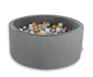 Ball-pit minky with balls 200pcs- dark gray