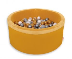 Ball-pit minky with balls 200pcs - honig gelb
