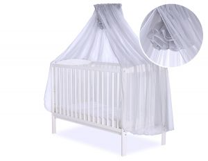 Mosquito-net made of chiffon - grey