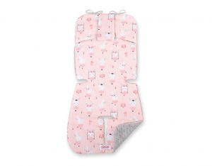 Double-sided cart insert BOBONO - ballerinas pink/gray