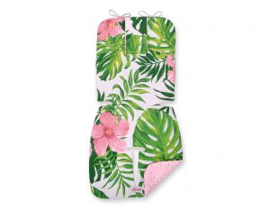 Double-sided cart insert BOBONO - tropical flowers/pink