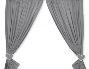 Curtains for baby room- Hanging Hearts anthracite
