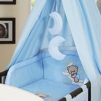 Bedding set 5-pcs with canopy (S)