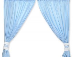 Curtains for baby room- Little Prince/Princess blue