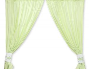 Curtains for baby room- Little Prince/Princess green