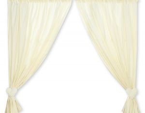 Curtains for baby room- Hanging Hearts cream