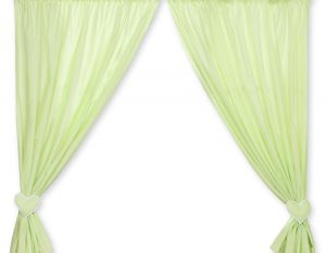 Curtains for baby room- Hanging Hearts green