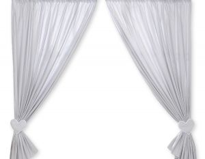Curtains for baby room- Hanging Hearts gray