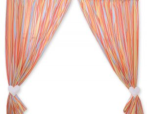 Curtains for baby room- Hanging Hearts orange strips
