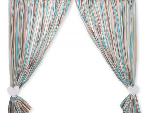 Curtains for baby room- Hanging Hearts brown strips