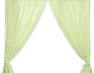 Curtains for baby room- Good night green