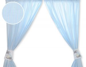 Curtains for baby room- Donkey Luca blue