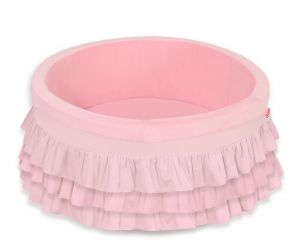 Ball-pit with frills without balls - pink