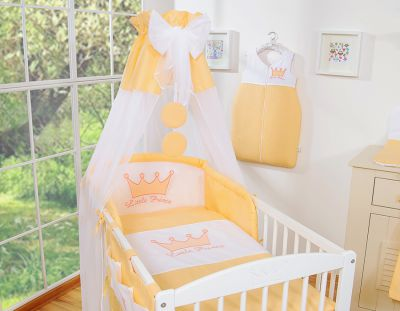 Bedding set 7-pcs with canopy- Little Prince/Princess peach