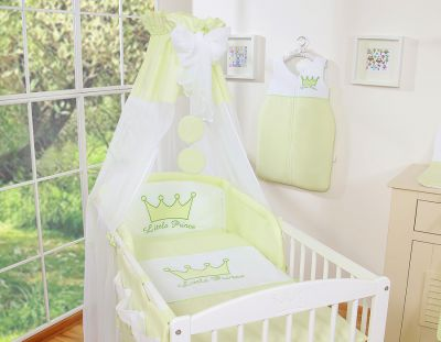 Bedding set 7-pcs with canopy- Little Prince/Princess green
