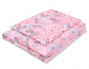 Bedding set 2-pcs- unicorn pink